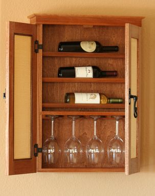 Custom Made Wall Hung Wine Cabinet