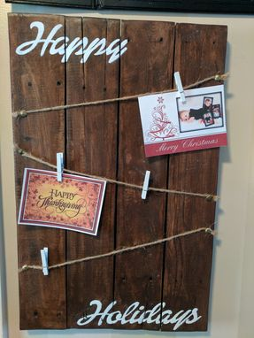 Custom Made Happy Holiday Photo/Card Holder