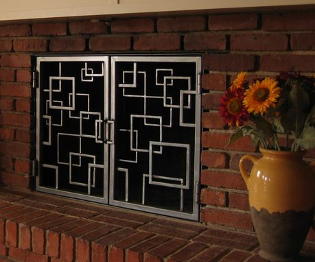 Custom Made Fireplace Doors