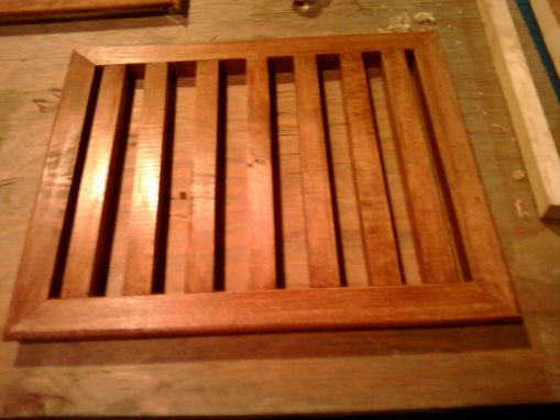 Custom Made Cherry Supply And Return Grates