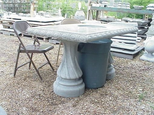 Custom Made Con-Verta-Table 5 Ft.Crawfish Eating Concrete Table With 2 Pedestals