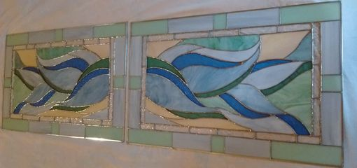Custom Made Waves Nautical Window