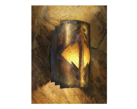 Custom Made Far Reaches ] Sc_1212ia_Ol_Bpgru Wall Light Sconce, Light Sculpture, Southwest