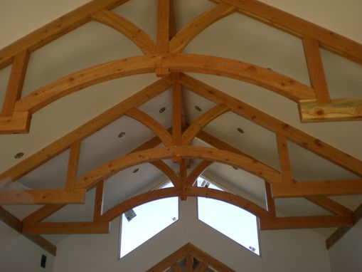 Custom Made Hand Hewn Rustic Timber Frame Trusses By
