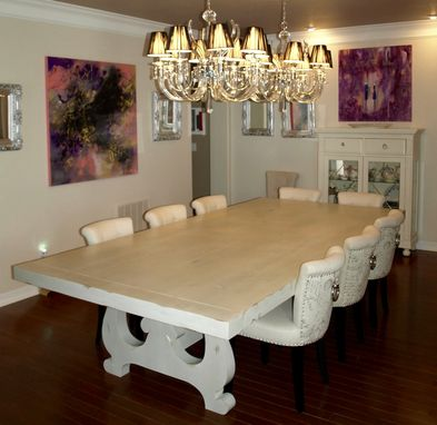 Custom Made Old World - Trestle Dining Table