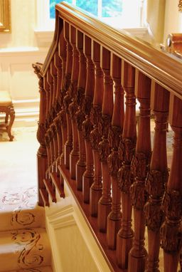 Custom Made French Stairway Balusters And Newels