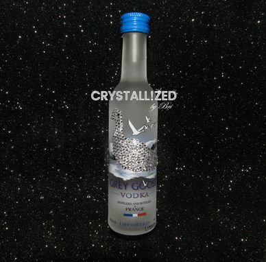 Custom Made Crystallized Grey Goose Bling Bottle Made With Swarovski Crystals