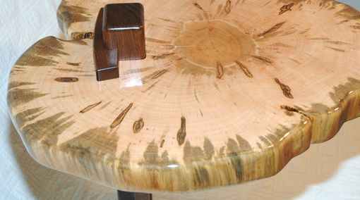 Custom Made Maple Slab Side Table