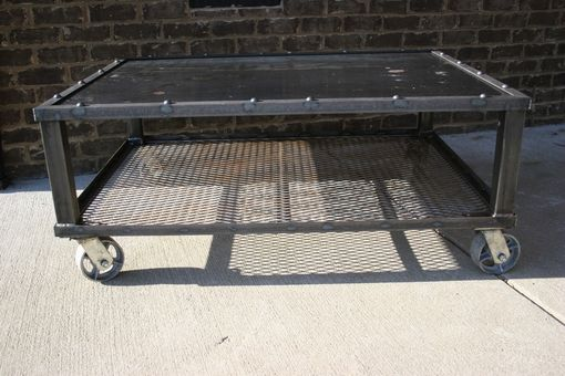 Custom Made Grid-Iron Coffee Table