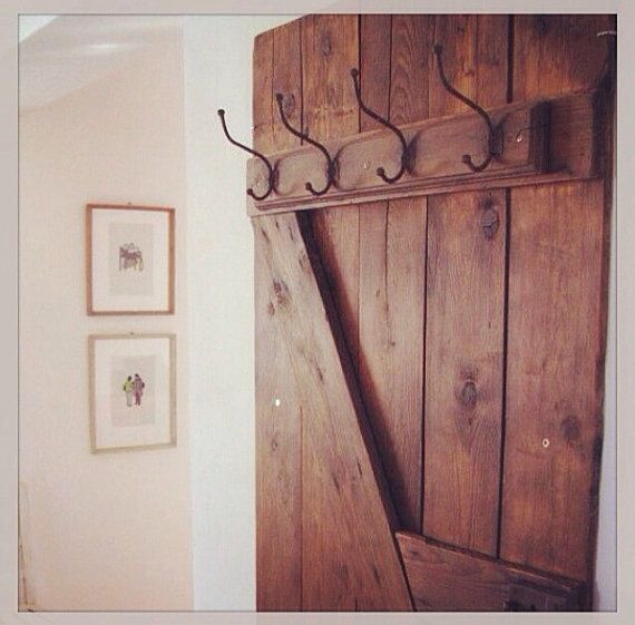 Hand Made Barn Door Style Coat Hanger By Mayhem Furniture
