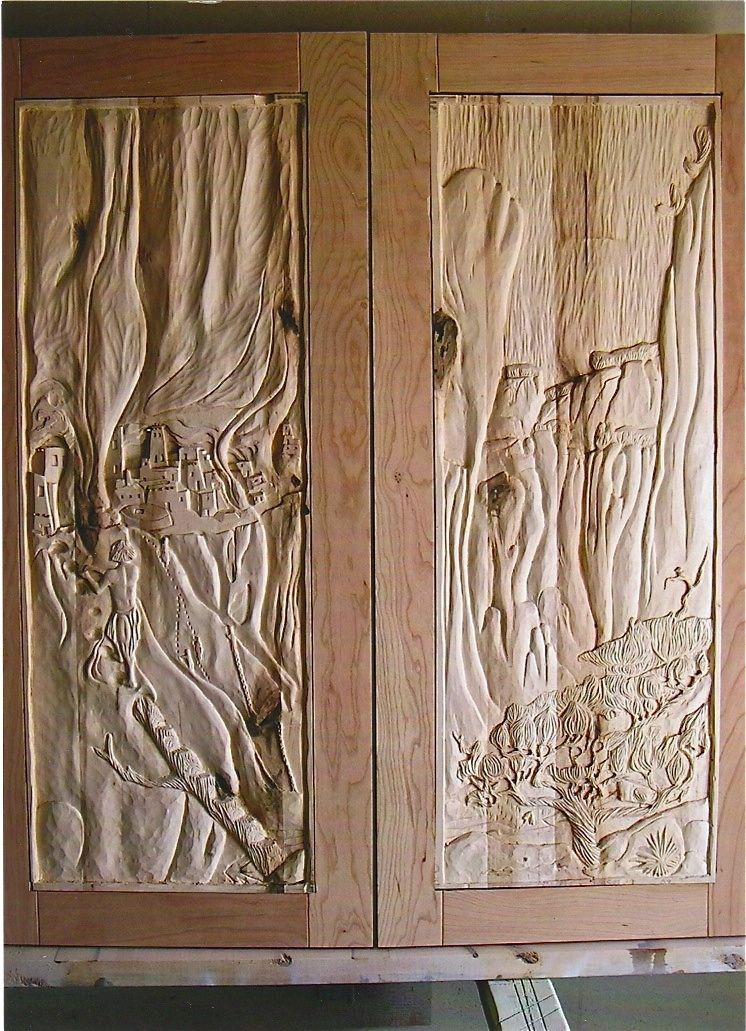 cabinet doors hand carved canyon de chelly cave dweliings