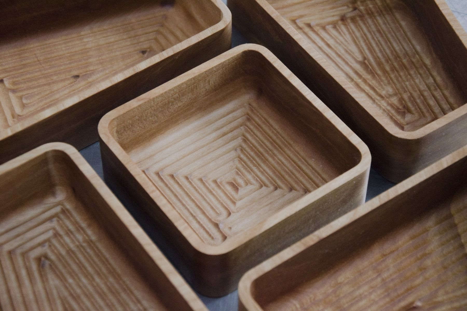 Custom Cnc-Cut, Red Birch Serving Trays by MATO ...