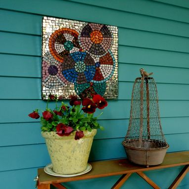 Custom Made Mosaic Circles Wall Art