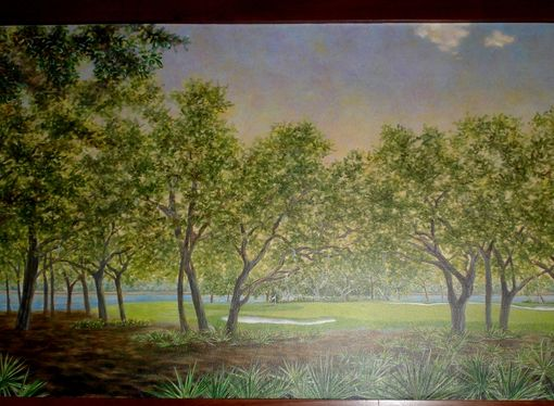 Custom Made Florida Golf Course Mural On Canvas By Visionary Mural Co.