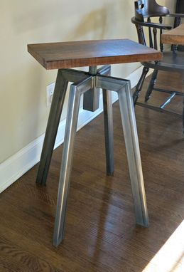 Hand Crafted Industrial Inspired Bar Stool By Donald Mee