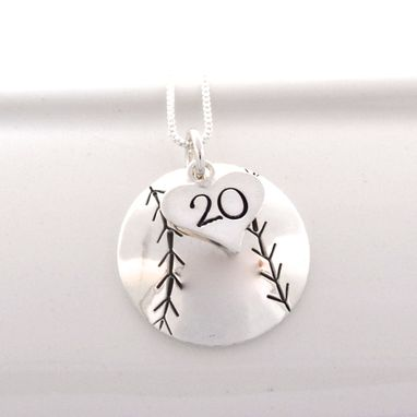 Custom Made Personalized Baseball/ Softball Necklace