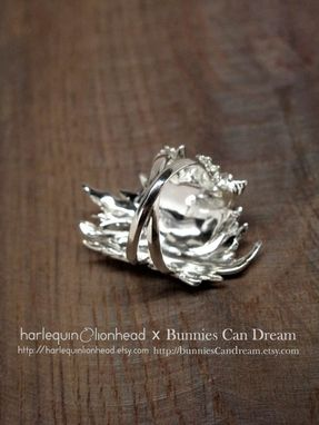 Custom Made Whirls Collection - No. 1 Ring White Gold Plated