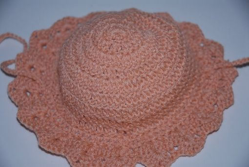 Custom Made Crochet Baby Girl Hat