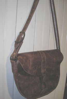 Custom Made Antique Buffalo Leather Purse