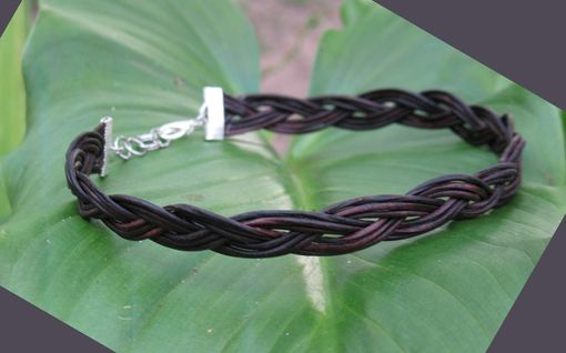 Custom Made Necklace / Choker:  Turk's Head Knot From Leather Cord