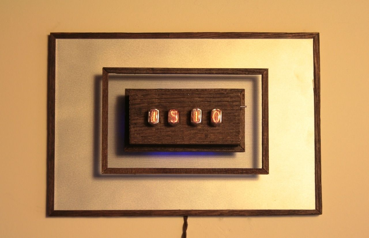 Hand crafted nixie tube wall clock by tungsten customs custom made nixie tube wall clock amipublicfo Gallery