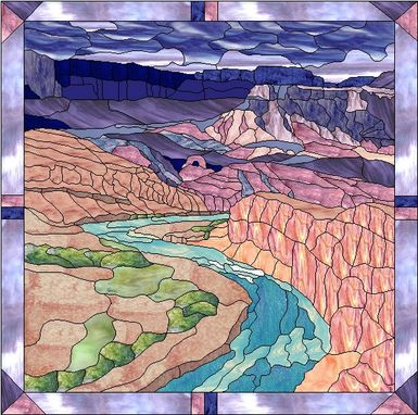 Custom Made Stained Glass In The Grand Canyon