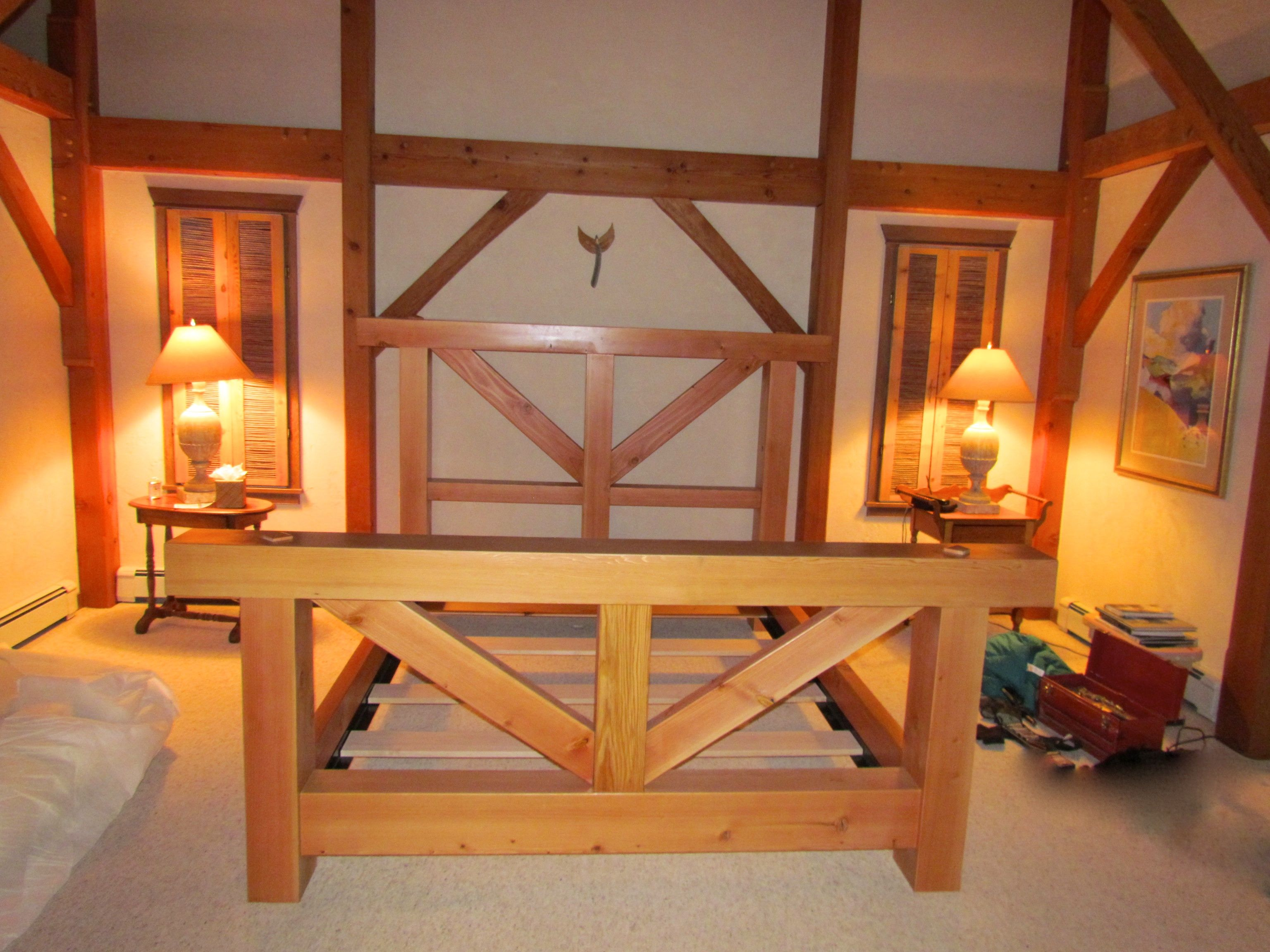 Custom Douglas Fir Timber Bed Frame By Furniture By