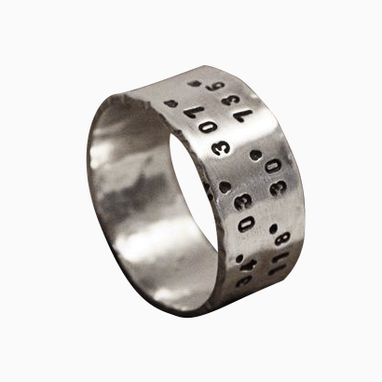 Custom Made Unisex Latitude & Longitude Ring - Custom Coordinates