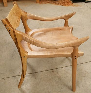 Custom Made Sculpted Low Back Chair