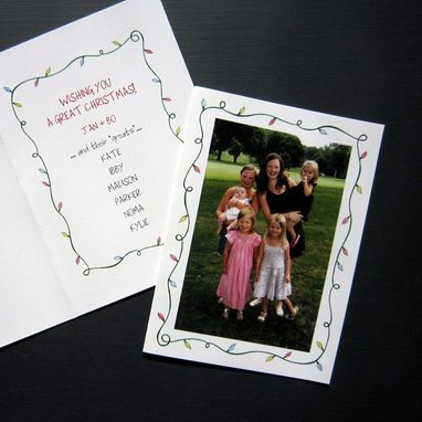 Custom Made Custom Holiday Cards- Family Photo
