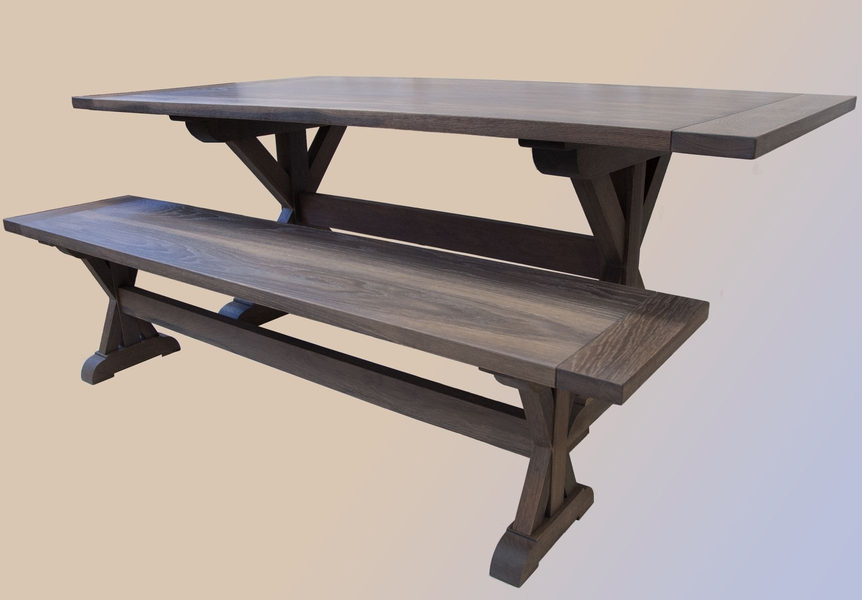 Handmade Modern Picnic Style Table And Bench By Sawn Custom Woodwork Custommade Com
