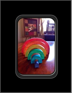 Custom Made Learning Toys, Wooden Toys, Rainbow Stackers, Child Toys, Waldorf Toys, Rainbow, Wood Toys