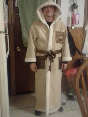 Custom Made Men's Sherpa Long Hooded Robe