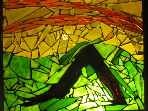 Custom Made Yoga Poses- Glass Mosaic Panels