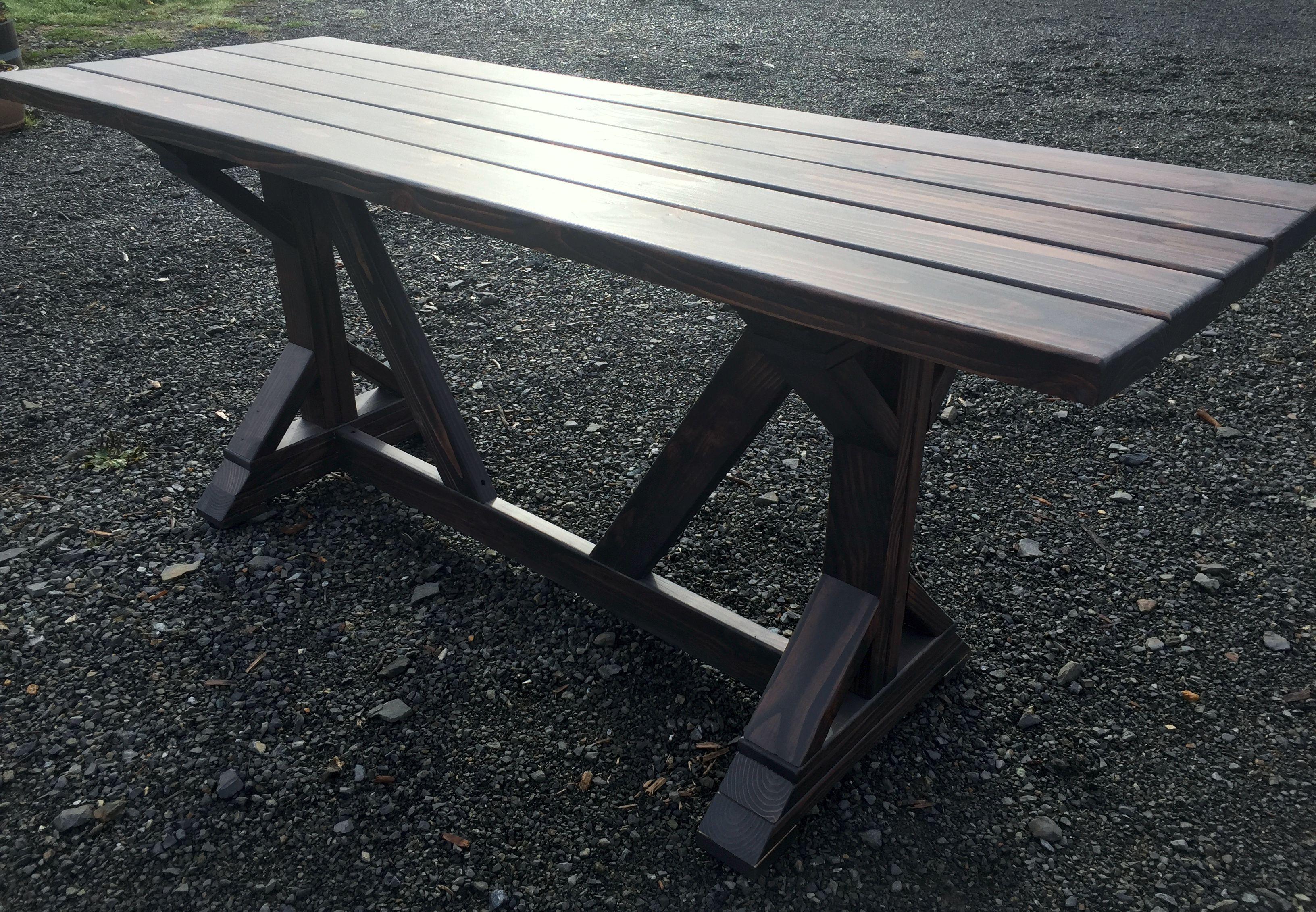 Custom Made Farmhouse Style Dining Or Patio Table
