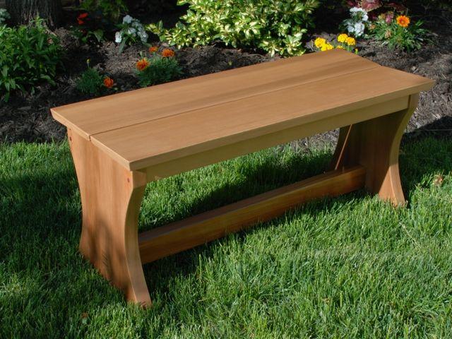 Custom Outdoor Cedar Garden Benches by Clark Wood Creations ...