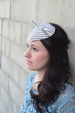 Custom Made Ticking Stripe Headpiece