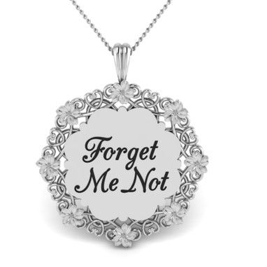 Custom Made 'Forget Me Not' Flower Pendant - Bereavement,Loss,In Memory Of,Memorial,Keepsake,Alzheimers