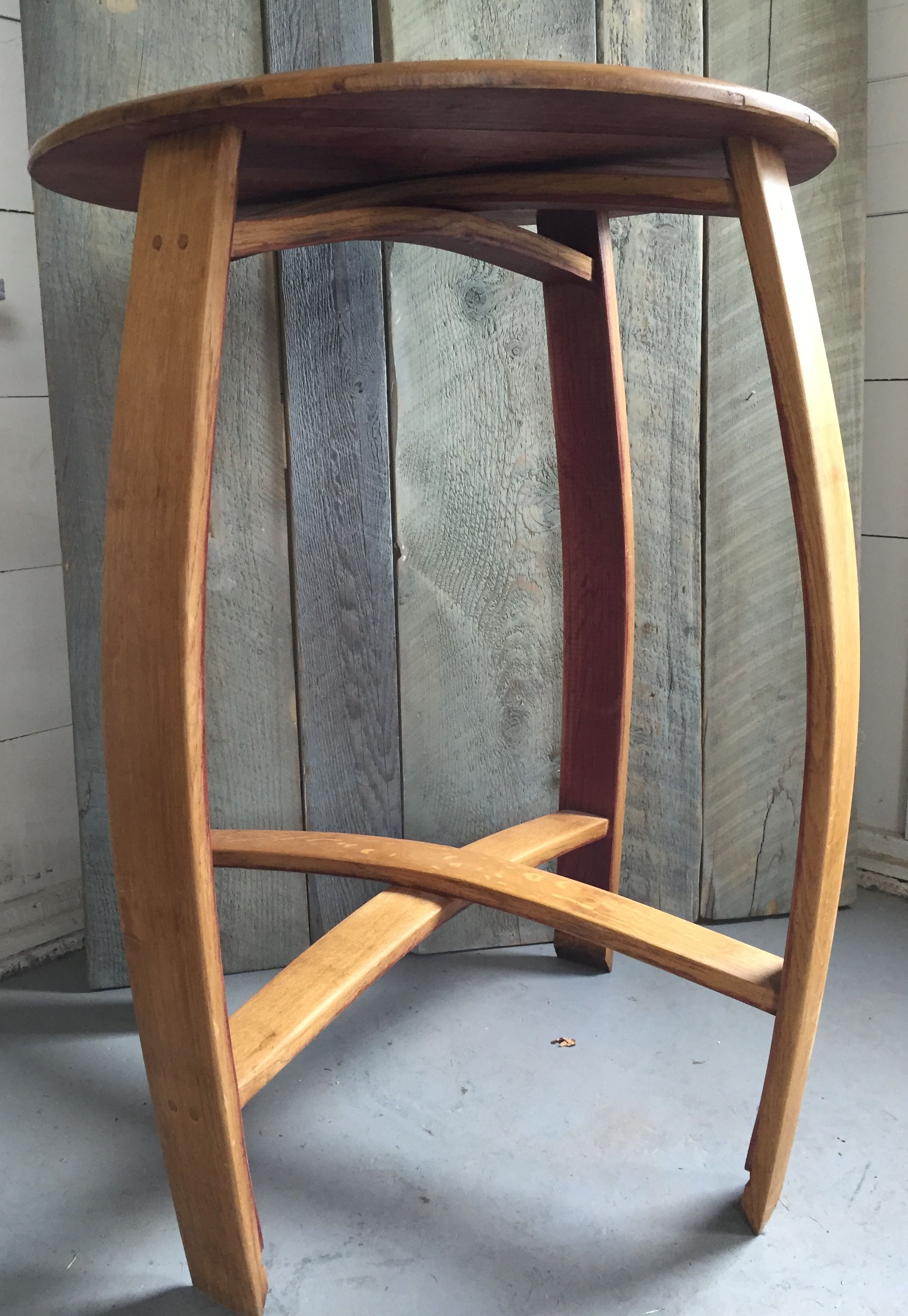 Buy A Hand Made Wine Barrel Bistro Table Indoor Outdoor Made To