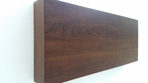 Custom Made Floating Wall Shelf Shelves 72 Inch Walnut Color Labor Day Sale Wall Modern Decor