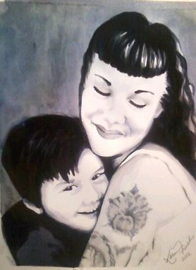 Custom Made Custom Black And White Watercolor Portrait From Your Photo