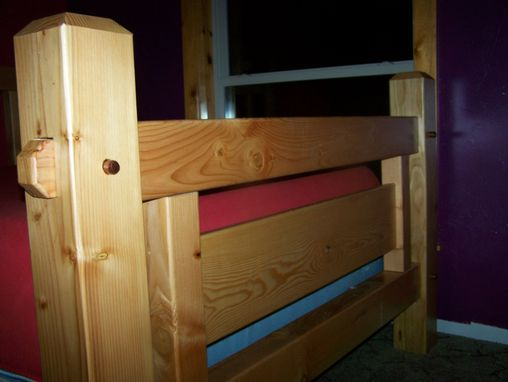 Custom Made Rustic Timber Frame Bed