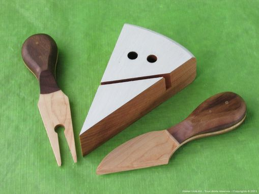 Custom Made Wooden Cheese Set