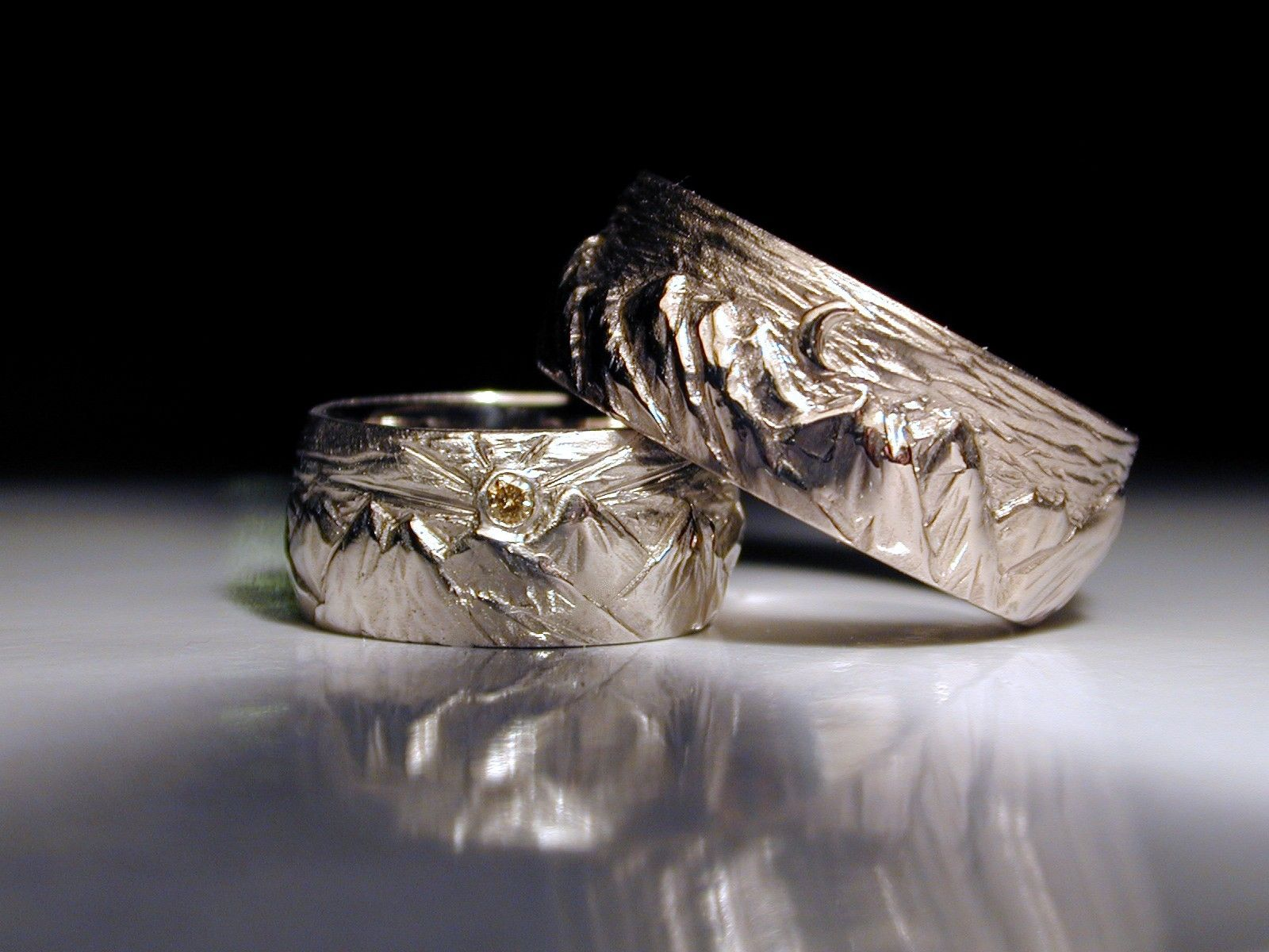 mens jimdailing women s made mountain carved or crafted by custom rings hand men womens wedding