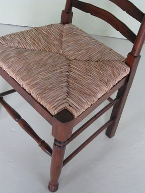 Custom Made English Ladderback Side And Arm Dining Chair
