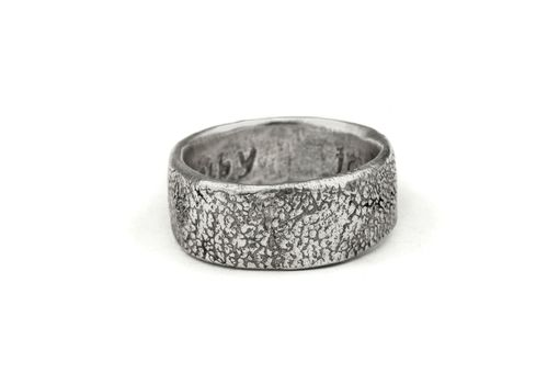 Custom Made Custom Wedding Ring Textured With Your Dog Or Cats Actual Paw Print