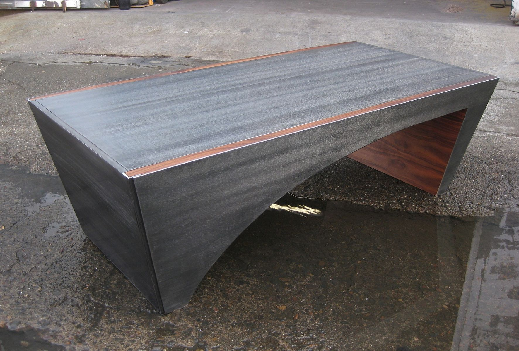 Hand Made Cantilever Coffee Table by Bill More Design