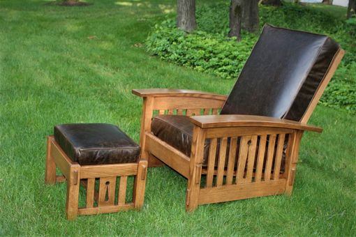 Custom Made Morris Chair & Ottoman
