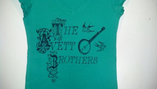 Custom Made The Avett Brothers Shirt, Small Or Large Green Screen Printed T Shirt, Ready To Ship