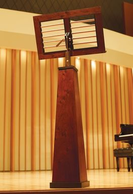 Custom Made Music Stand In Jatoba And Rosewood